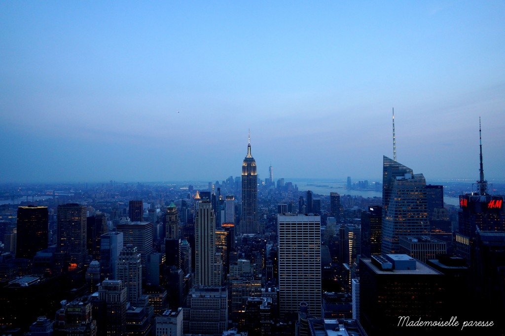 17 - Mademoiselle paresse - Top of the Rock Sunset