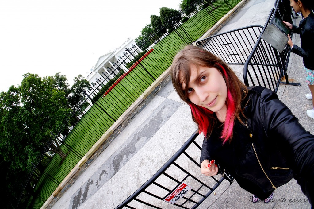 Mademoiselle paresse Washington white house selfiee