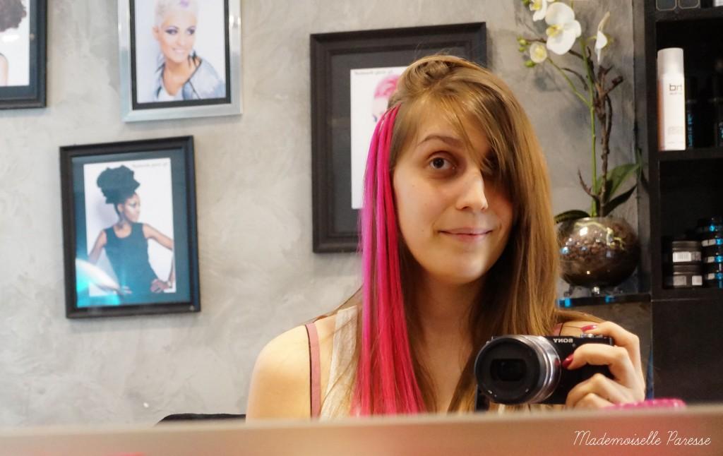 Mademoiselle paresse pink hair 3