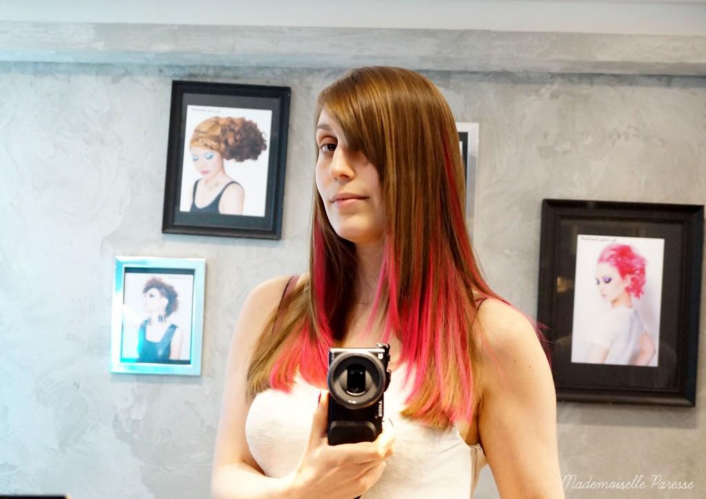Mademoiselle paresse pink hair 4