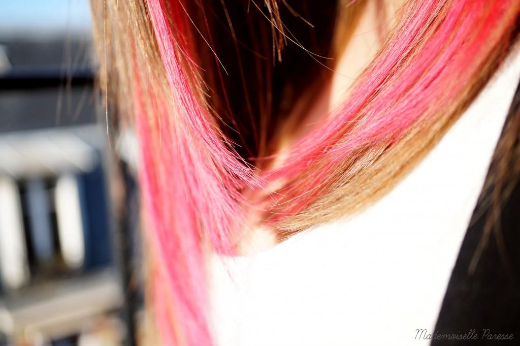 Mademoiselle paresse pink hair 5