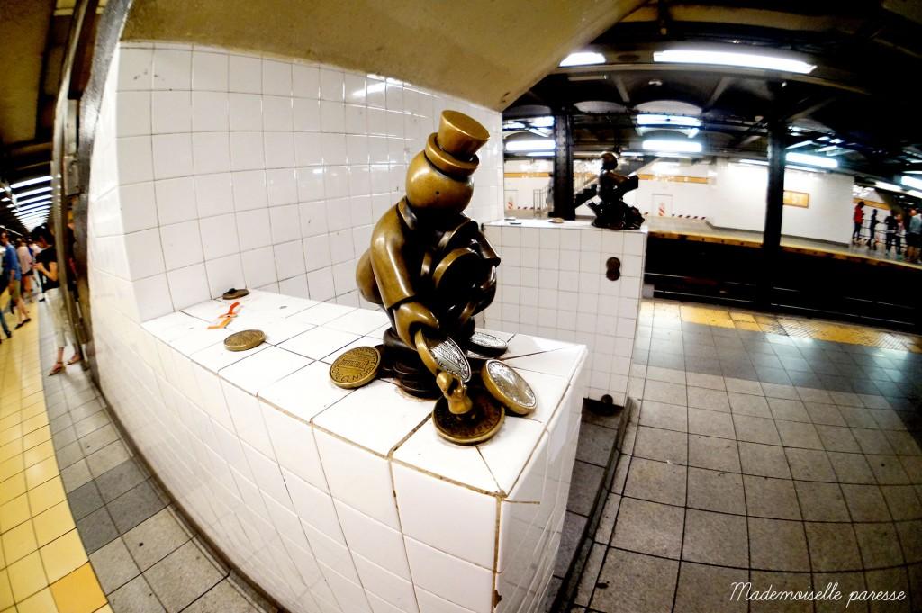 Mademoiselle paresse NYC subway Life underground 5