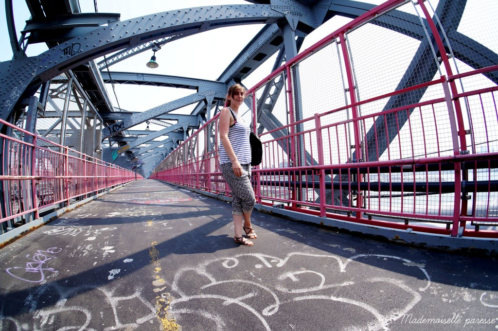 Mademoiselle paresse visite New York Brooklyn Williamsburg bridge